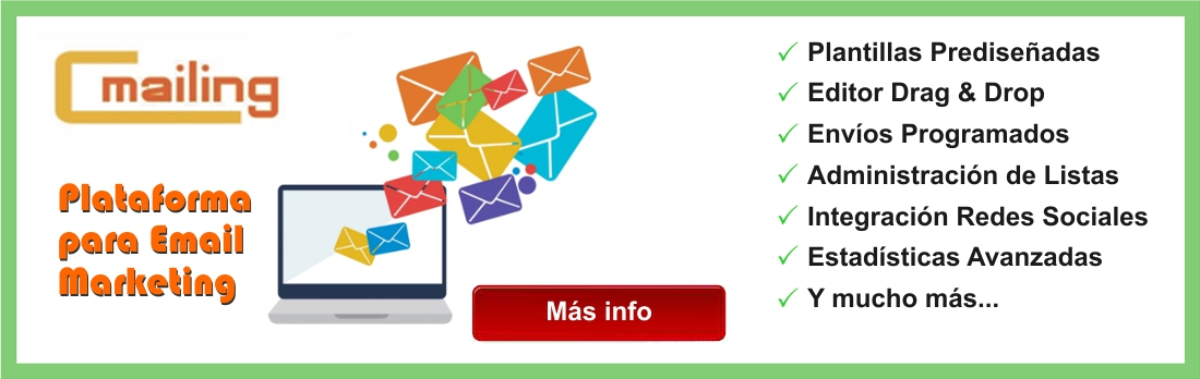 Env&iacutee sus Mailings con nuestro poderoso sistema de Email Marketing